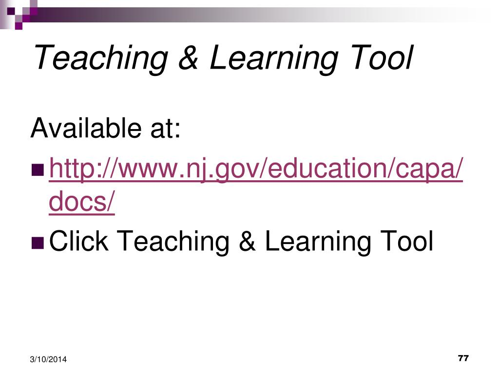 Teaching & Learning Tool