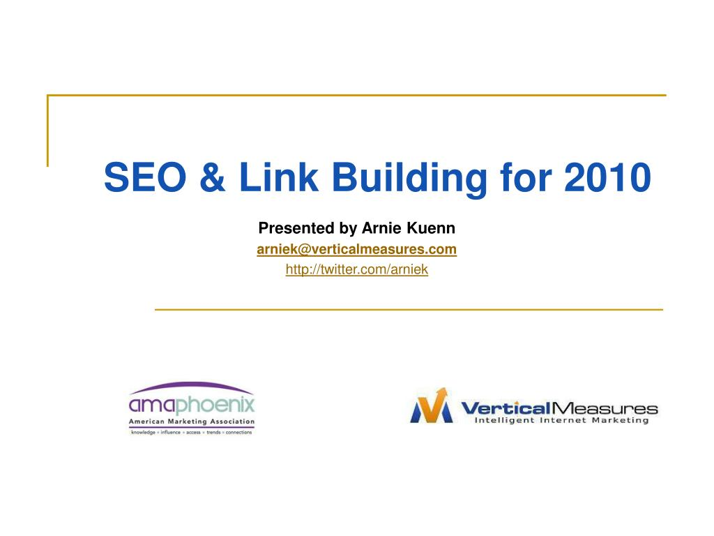 seo link building for 2010 l.