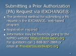 submitting a prior authorization pa request via iexchange
