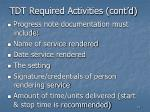 tdt required activities cont d31