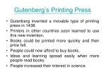 gutenberg s printing press