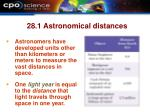 28 1 astronomical distances