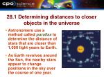 28 1 determining distances to closer objects in the universe
