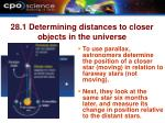 28 1 determining distances to closer objects in the universe13