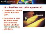 28 1 satellites and other space craft