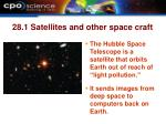 28 1 satellites and other space craft23