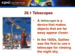 28 1 telescopes