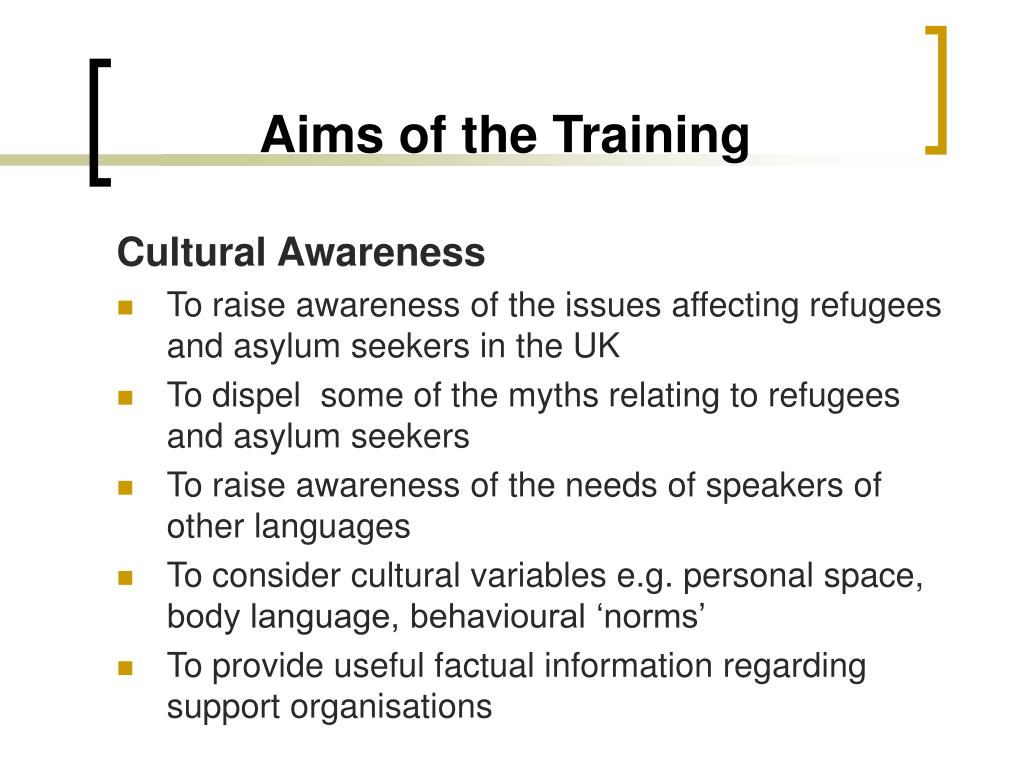 Aims of the Training