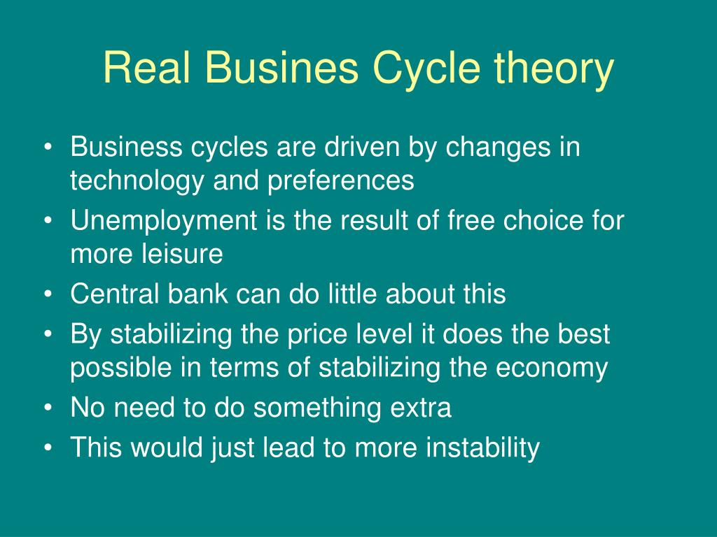 Real Busines Cycle theory