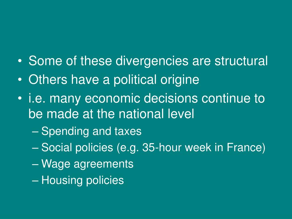 Some of these divergencies are structural