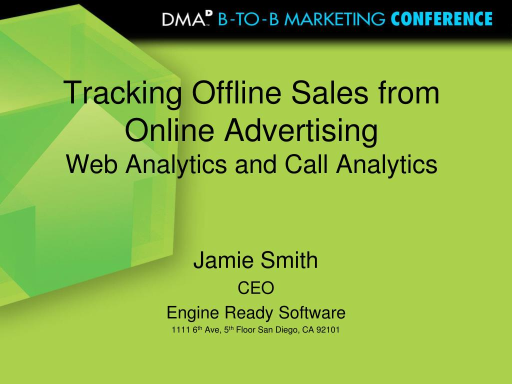 tracking offline sales from online advertising web analytics and call analytics l.