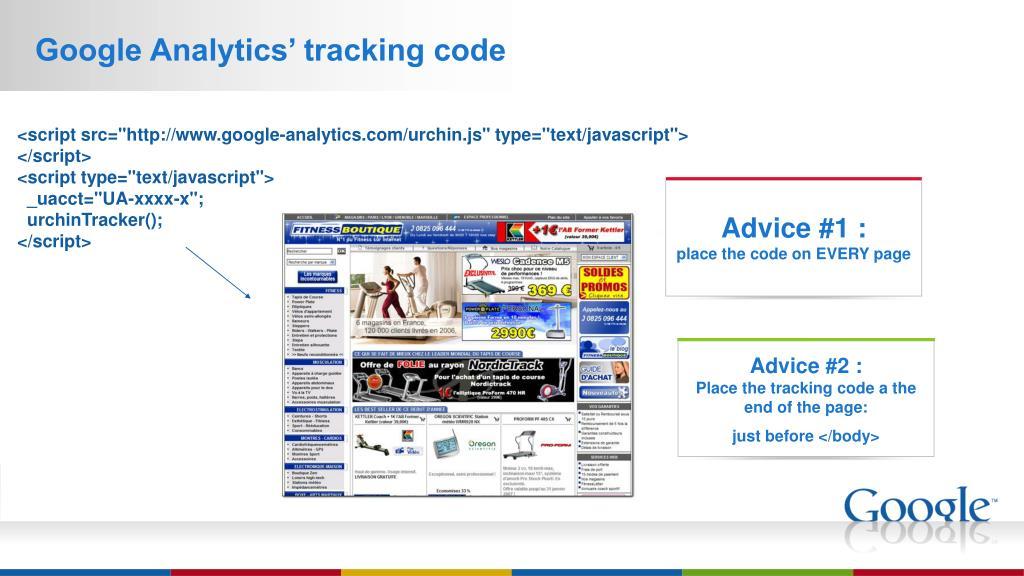 Google Analytics' tracking code