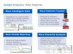 google analytics new features