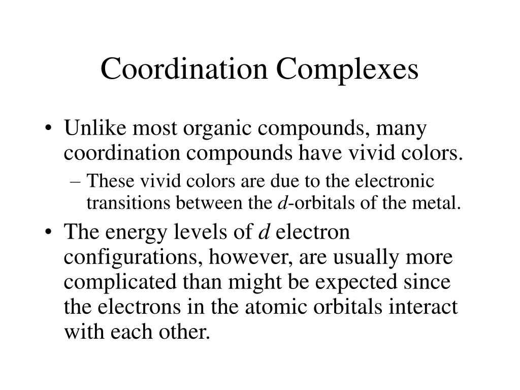 co ordination chemistry iii electronic spectra