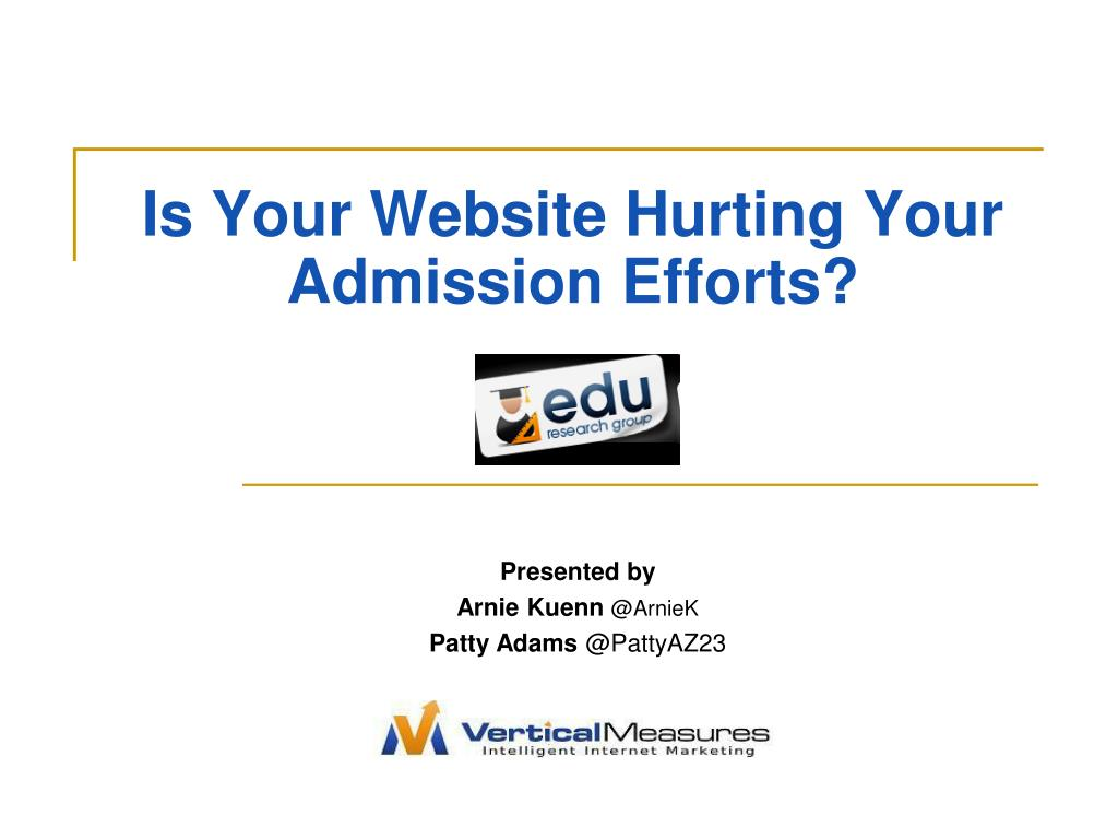 is your website hurting your admission efforts l.