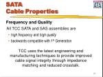 sata cable properties