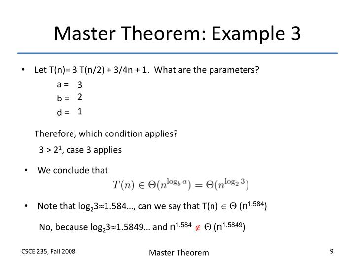 Ppt Master Theorem Powerpoint Presentation Id1223935