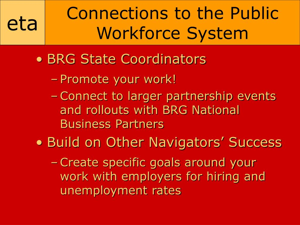Connections to the Public Workforce System