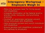 interagency workgroup employers weigh in