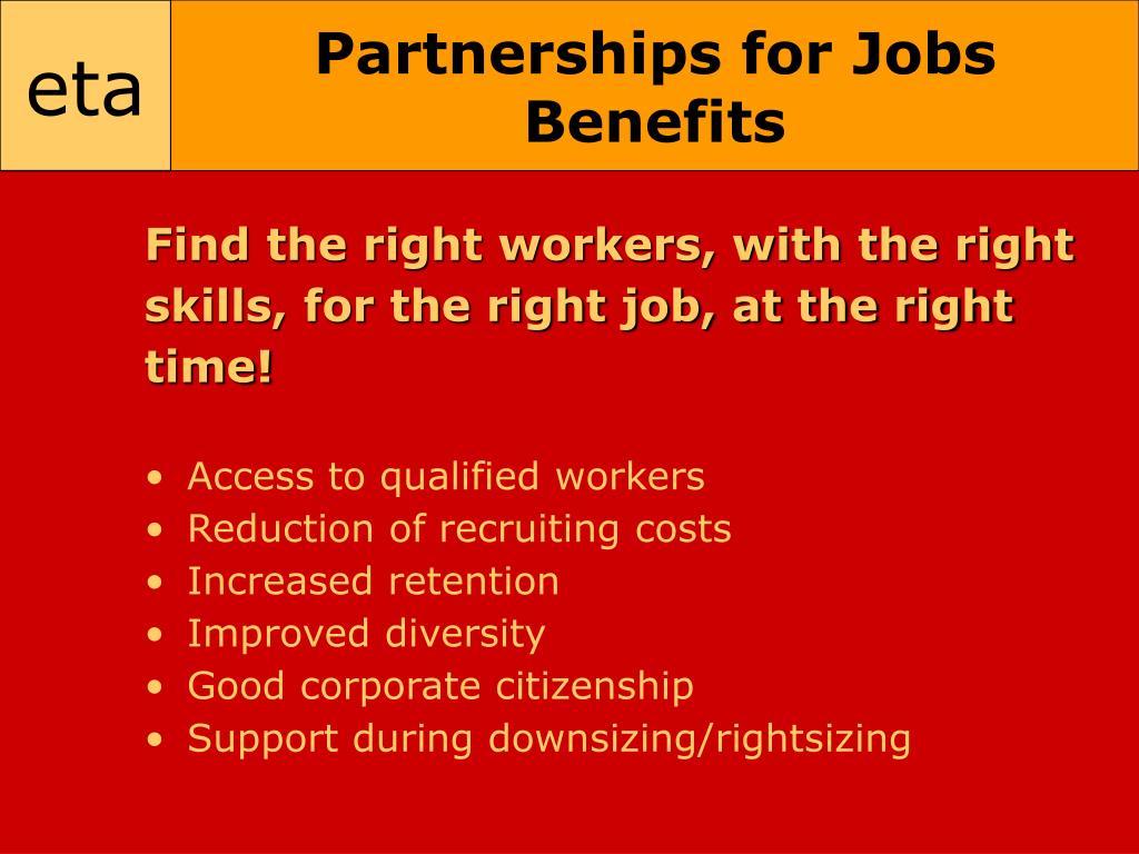 Partnerships for Jobs