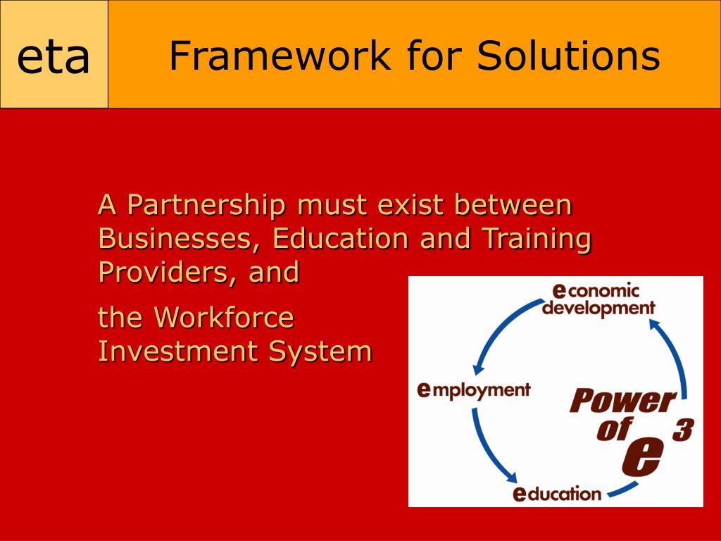 Framework for Solutions