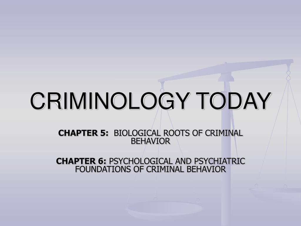 psychological theories of crime and delinquency