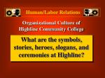 organizational culture of highline community college