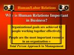 why is human relations important in business