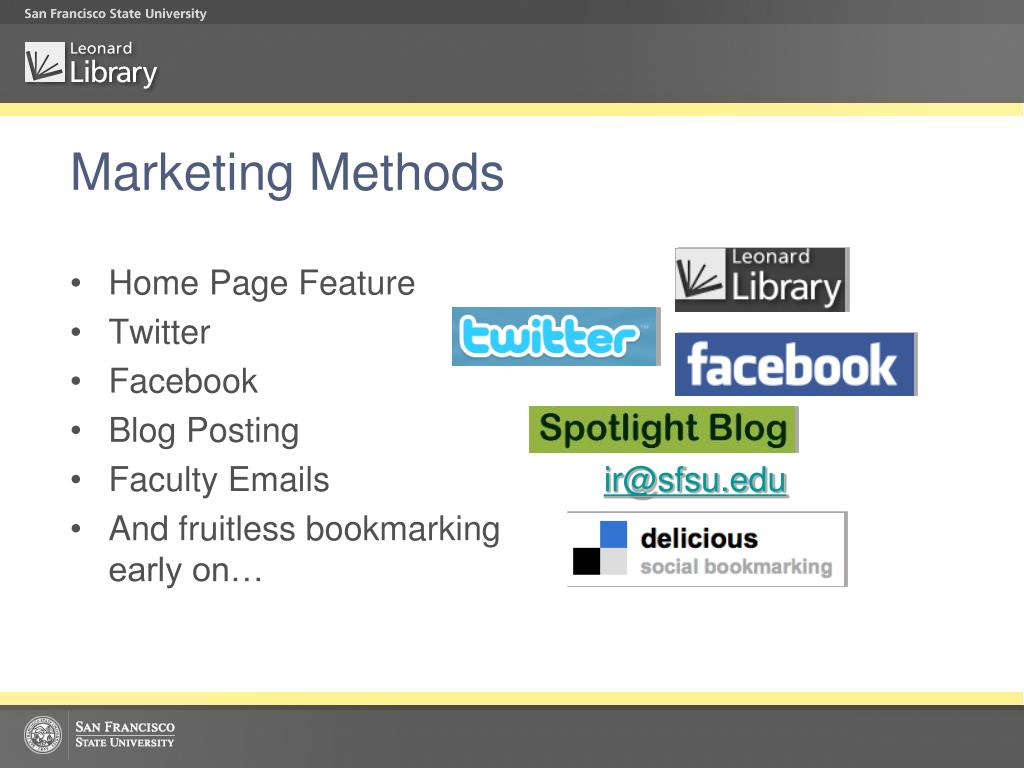 Marketing Methods
