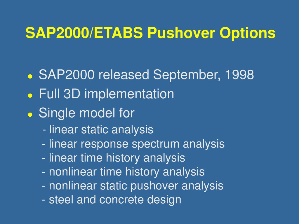 PPT - Static Pushover Analysis PowerPoint Presentation - ID