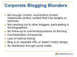 corporate blogging blunders