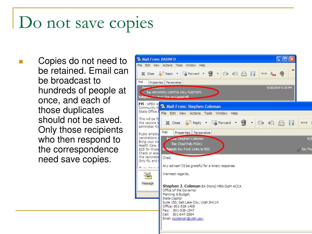 Do not save copies