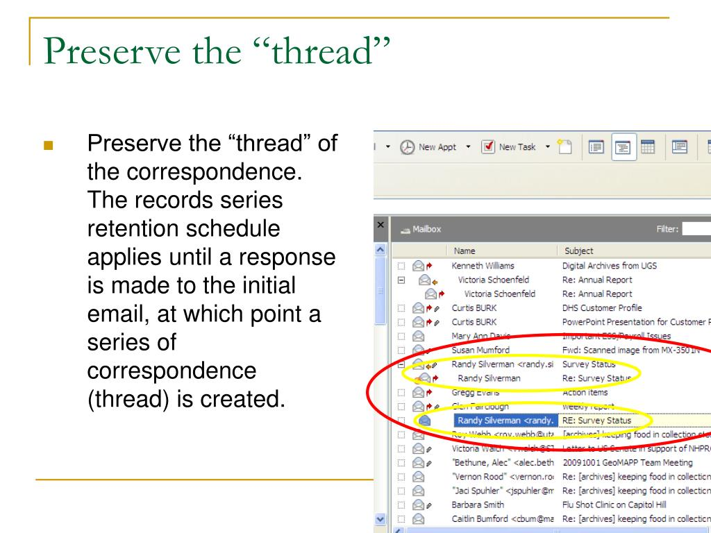 "Preserve the ""thread"""