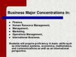 business major concentrations in