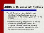 jobs in business info systems