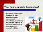 your future career in accounting