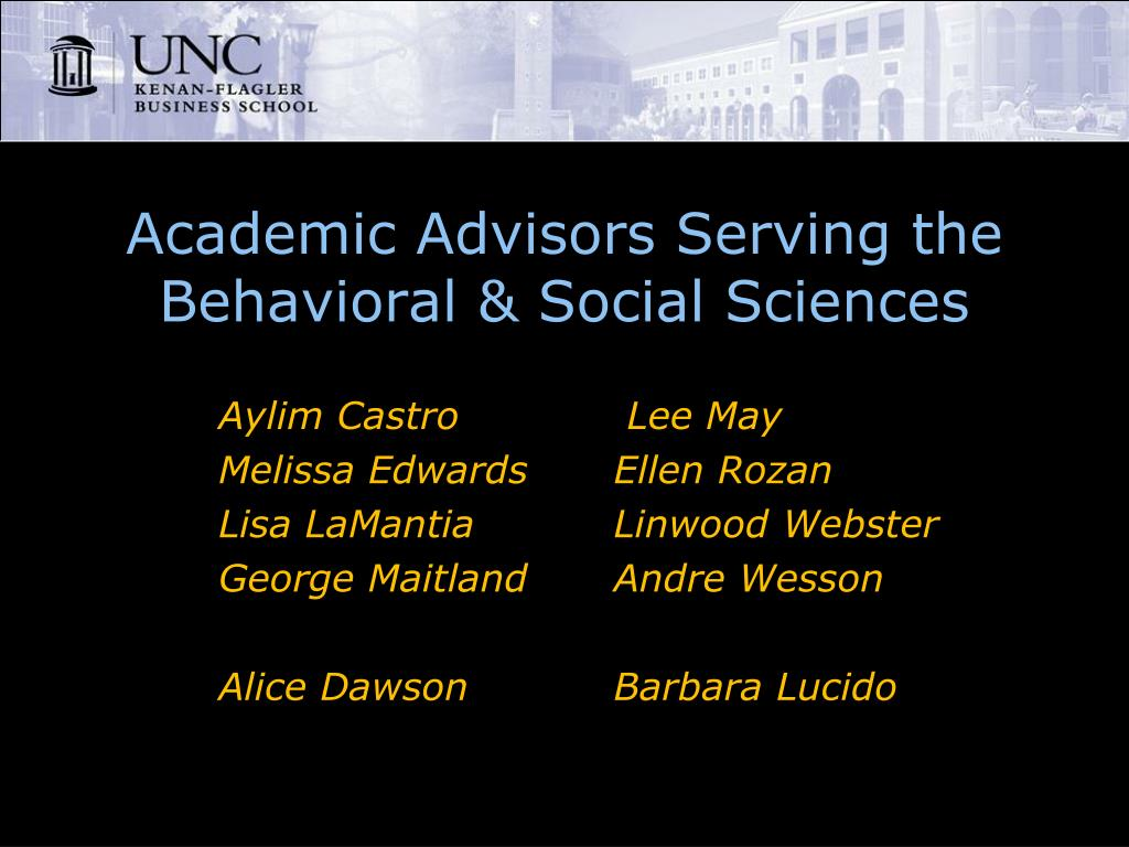 Academic Advisors Serving the Behavioral & Social Sciences
