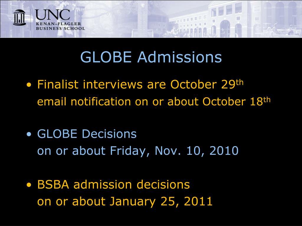 GLOBE Admissions