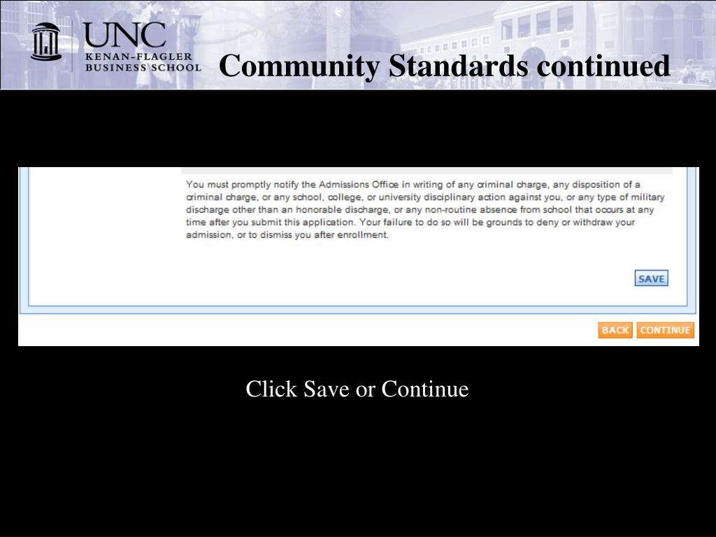 Community Standards continued