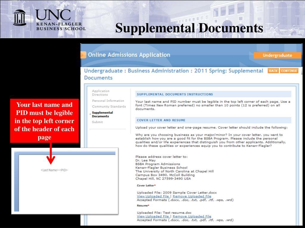 Supplemental Documents