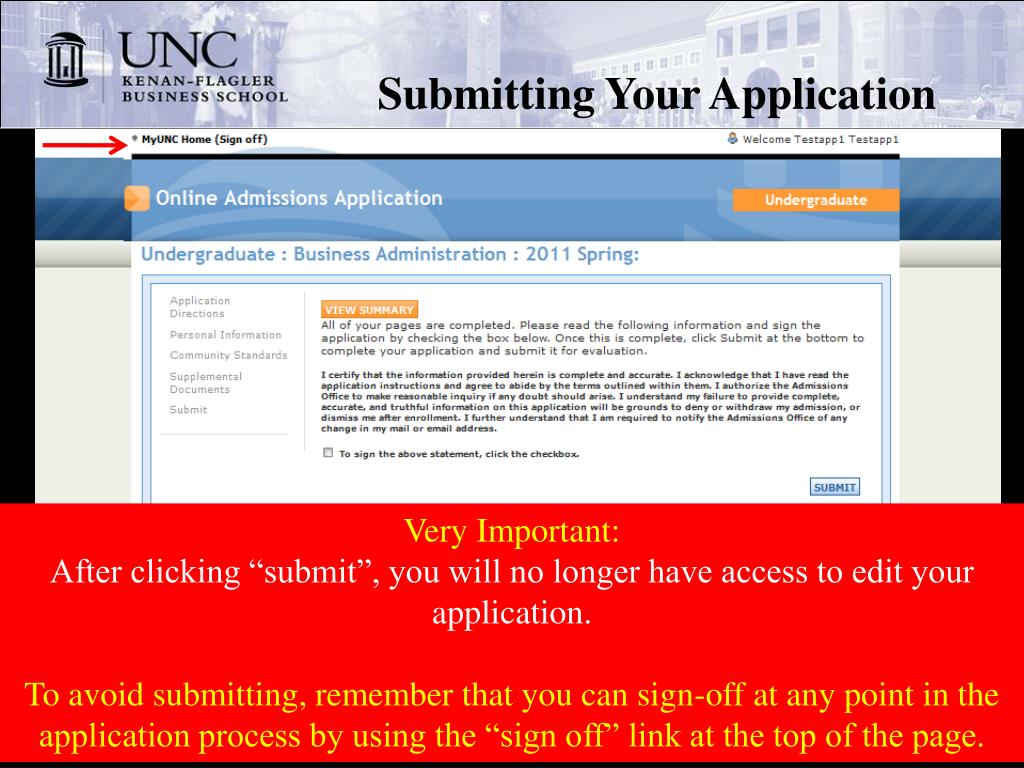 Submitting Your Application