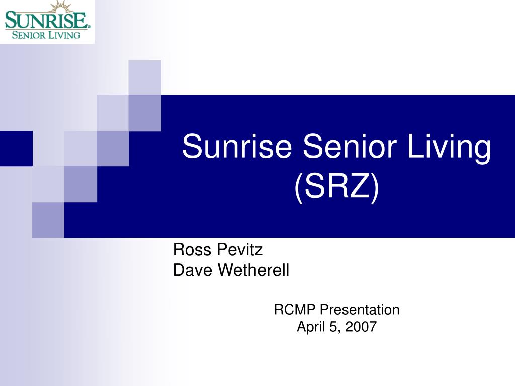 sunrise senior living srz l.