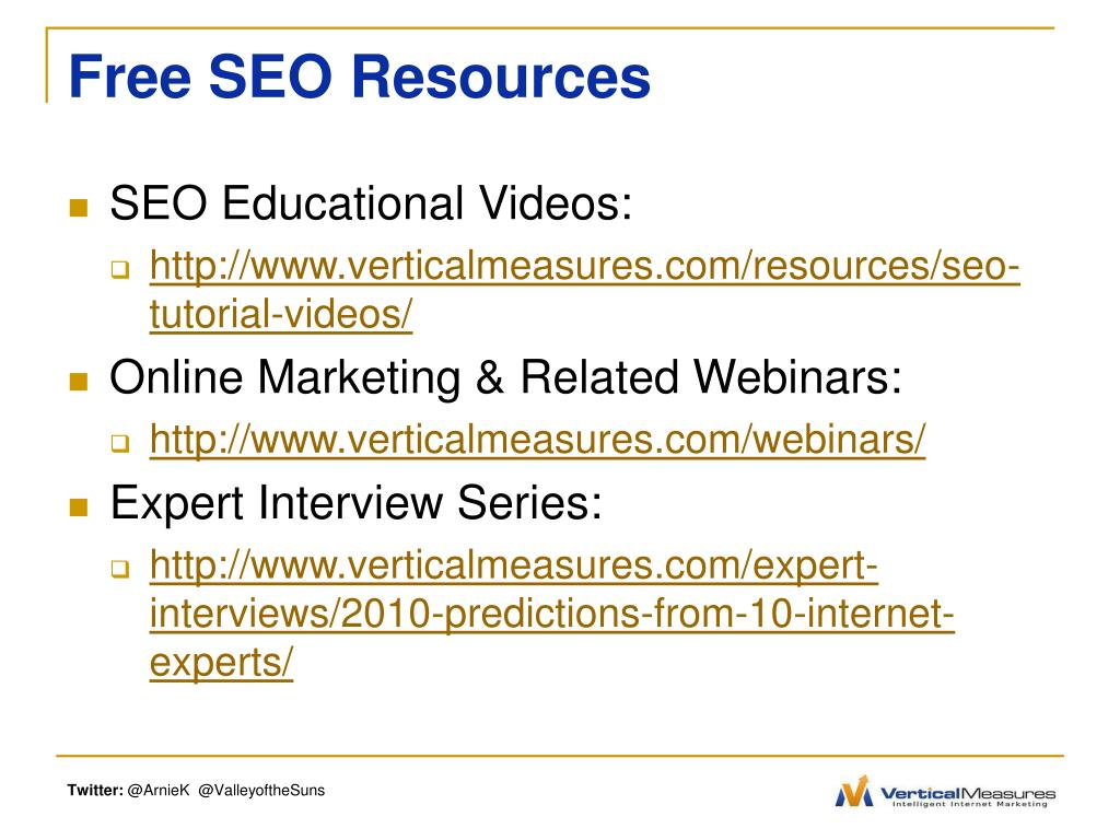 Free SEO Resources