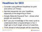 headlines for seo