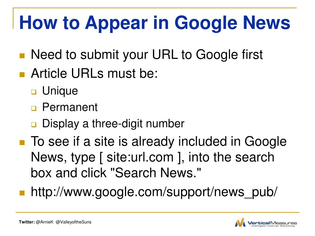 How to Appear in Google News