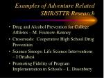 examples of adventure related sbir sttr research9