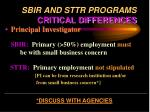 sbir and sttr programs critical differences26