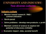 university and industry two diverse cultures34