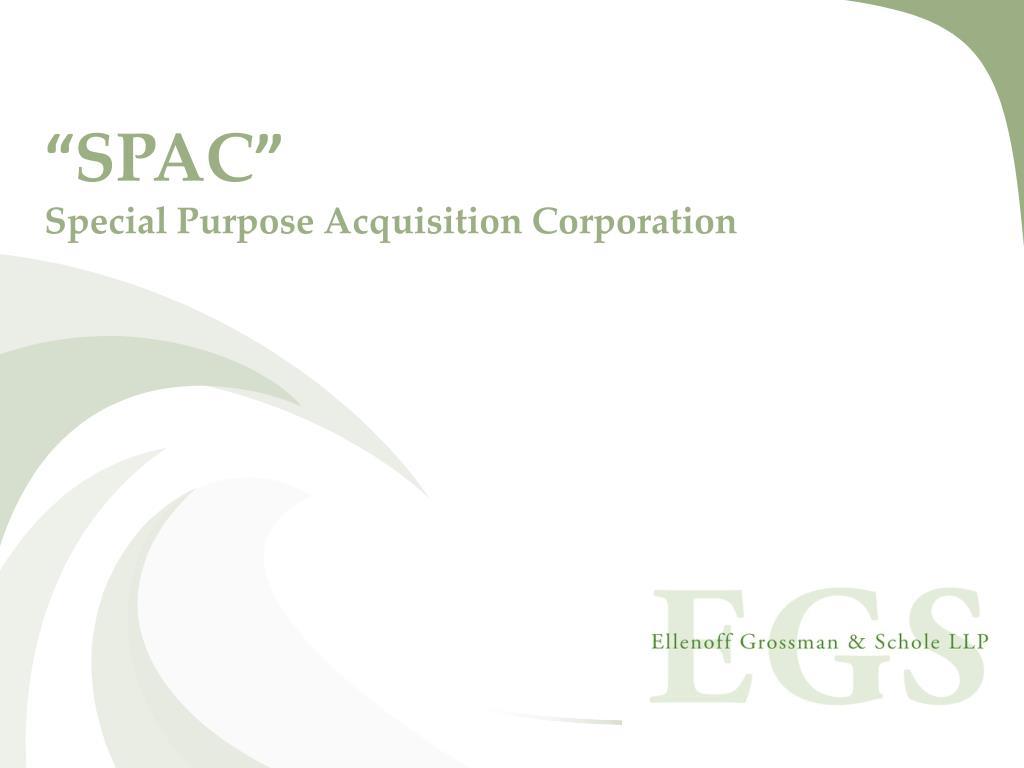 spac special purpose acquisition corporation l.
