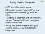 spring mission statement